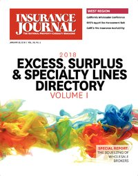 Outlook for 2018; Directory: Excess, Surplus & Specialty Markets Volume I